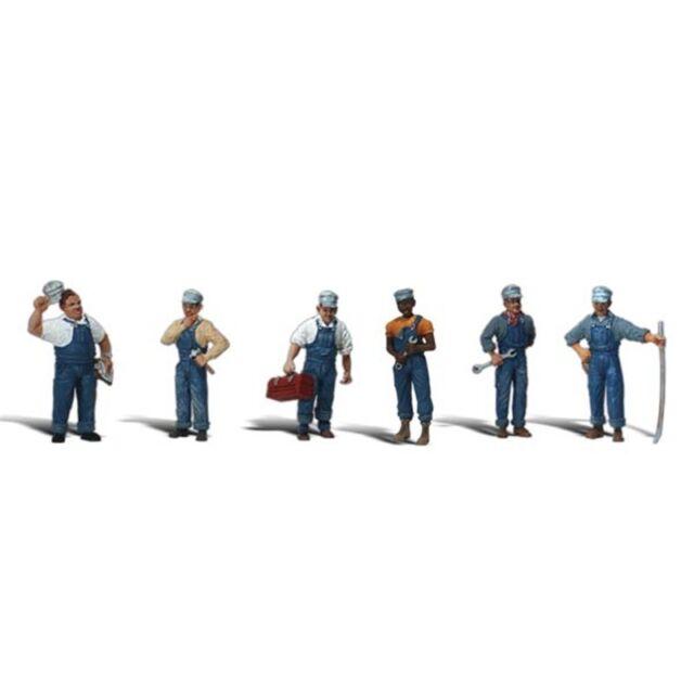 Painted Train Mechanics (OO/HO figures x7) Woodland Scenics A1859 F2