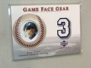 F46428 2003 Upper Deck Game Face Gear Jose Vidro Expos Jersey
