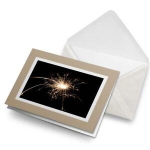 Greetings-Card-Biege-Sparkler-Sparks-Firework-Fun-2164