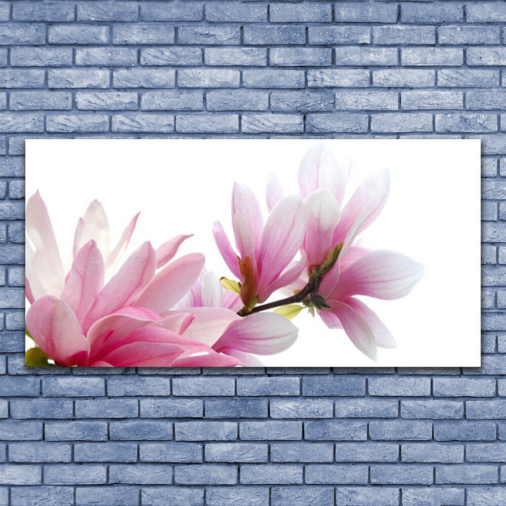 Glass print Wall art 140x70 Image Picture Magnolia Blossoms Floral