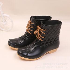 bf14c7d289d5 Women s Ankle Rain Boots Winter Waterproof Booties With Velvet ...