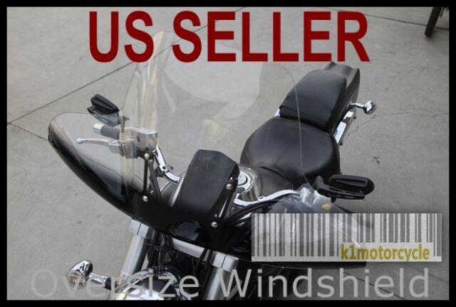 Large Windshield for Honda Suzuki Yamaha Kawasaki Motorcycle ATV Cruiser