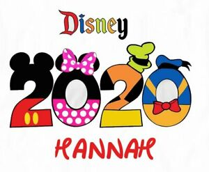Disney Vacation Mickey Minnie Mouse 2020 Castle Ur Name Shirt Iron