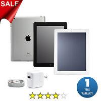 Apple iPad 2, 3 or 4 | 16GB, 32GB, 64GB or 128GB | Black or White Wi-Fi Tablet