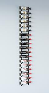 VintageView® WS61 6-Foot 18 Bottle Wall Mounted Wine Rack in Satin Black.