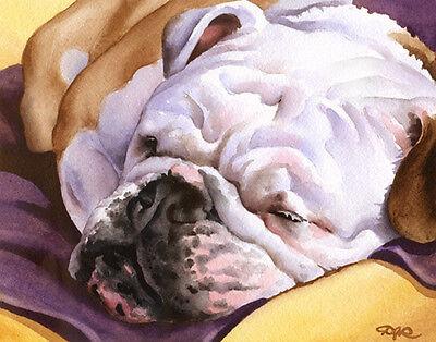 The Lineup by Brian Rubenacker bulldog pug chihuahua Poster 12x24 DOG ART PRINT