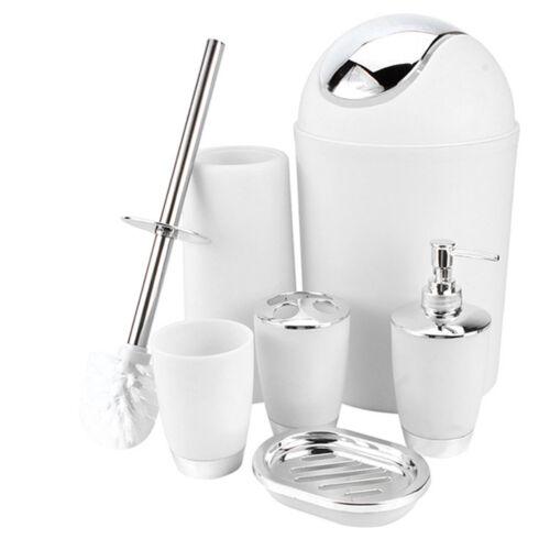 6x Tumbler Zahnbürstenhalter Bin Seifenschale Dish Badezimmer Zubehör Set GS