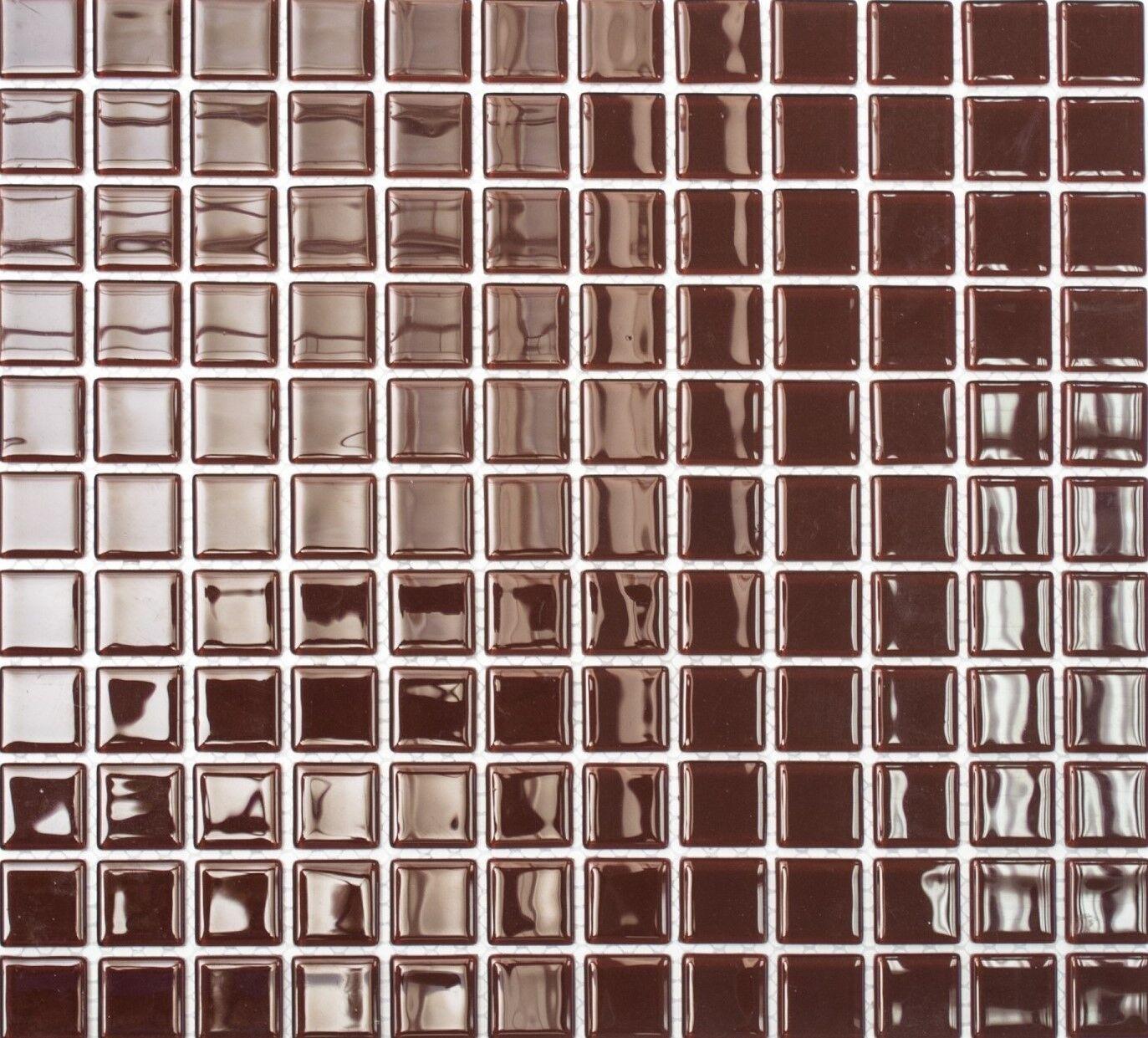 Mosaiksteine Mosaikfliese Glasmosaik dunkelbraun - Art  60-1308_f