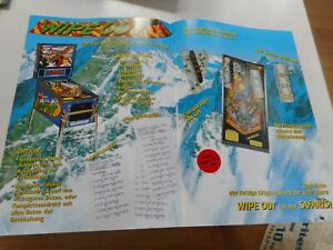4-Page German Flyer for Flipper Pinball Wipe Out