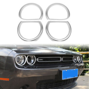 Exterior-Mouldings-for-Dodge-Challenger-Headlight-Decoration-Trim-Bezels-2015