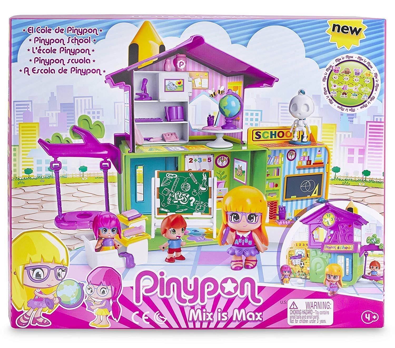 PinyPon Cole Colegio Pin y Pon con 3 Figuras Profesora y Alumnas Con Accesorios