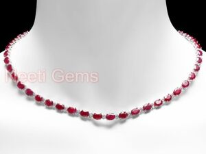 Vintage-5000-16ct-Ruby-and-Diamond-14k-White-Gold-Over-Tennis-Necklace-18-034