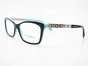 3c392a508a74 New Authentic Tiffany   Co TF 2103-B 8055 Black and Blue Eyeglasses ...