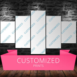 Large Framed Custom Picture 5 Piece Canvas Home Decor Customized Wall Art Ebay