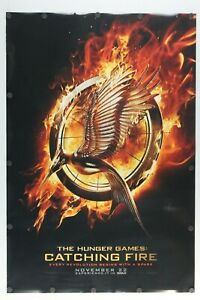 The Hunger Games Catching Fire 2013 Double Sided Original Movie Poster 27 X 40 Ebay