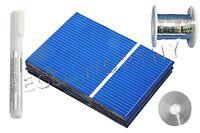 40pcs 52x76mm Solar Cell Kit w/ 50'Tab Wire 6'Bus Wire Flux Pen DIY Solar Panel
