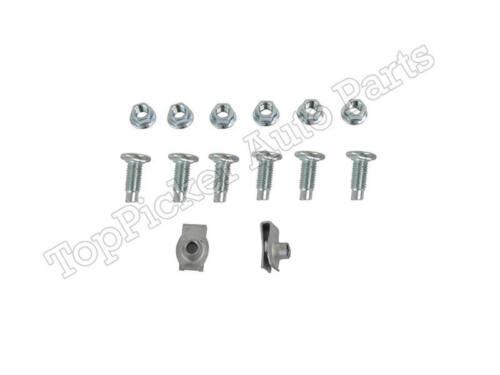 Painted White Rear Step Bumper Bar Screws Kits For 2002-2008 Ram 1500 2500 3500