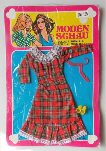 VINTAGE-Sfilata di Moda Abito-Hong Kong DOLL OUTFIT Marion BAMBOLA Barbie clone NUOVO
