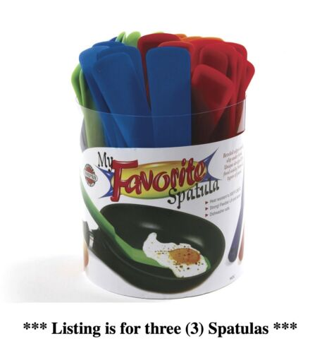 Norpro My Favorite Spatula 11 Inches Pack of 3 Assorted Colors