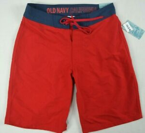 213acd88d2 Old Navy California Men's At Knee Red Navy Blue Swim Athletic Board ...