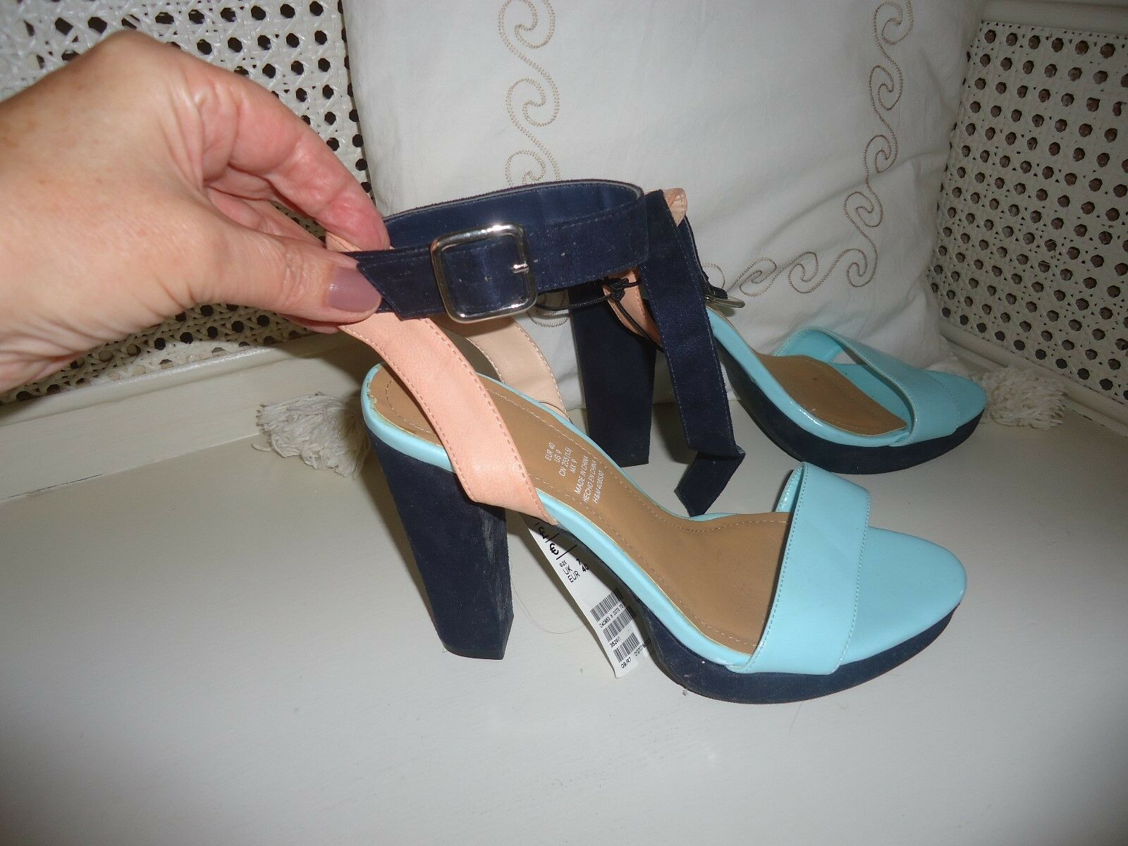 Ladies H&M ankle strap high heel size 7