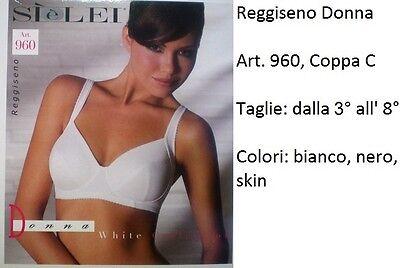 Reggiseno Senza Ferretto In Microfibra Si è Lei Art.960 Coppa C Bianco-Nero-Skin
