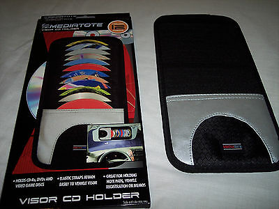"Mediatote Visor CD Holder,Holds 12 Discs,Elastic Straps to Visor,11-1//2/""x 6/"""