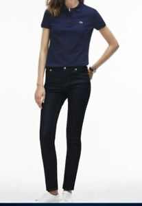 056b7896717 WOMENS LACOSTE CLASSIC WAIST FITTED LEG COTTON FIT JEANS FR36 37 UK8 ...