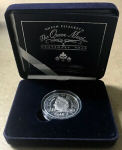 GREAT-BRITAIN-The-Queen-Mother-Centenary-Proof-Silver-5-Crown-2000-OGP-COA
