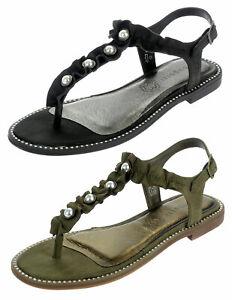 first rate ea878 35478 Details zu Bugatti Damen Sandalen Zehentrenner Fußbett Sandaletten Sommer  Schuhe 67882