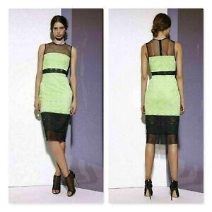SHONA-JOY-Womens-Meshed-Splice-Midi-Dress-NEW-400-Size-AU-6-or-US-2