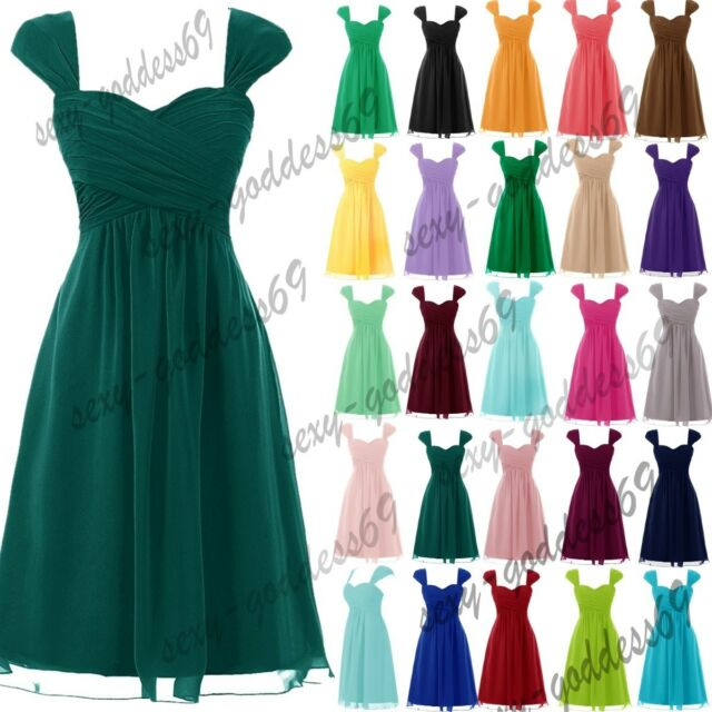 New Short Chiffon Formal Prom Party Cocktail Gown Evening Bridesmaid Dress 6-22
