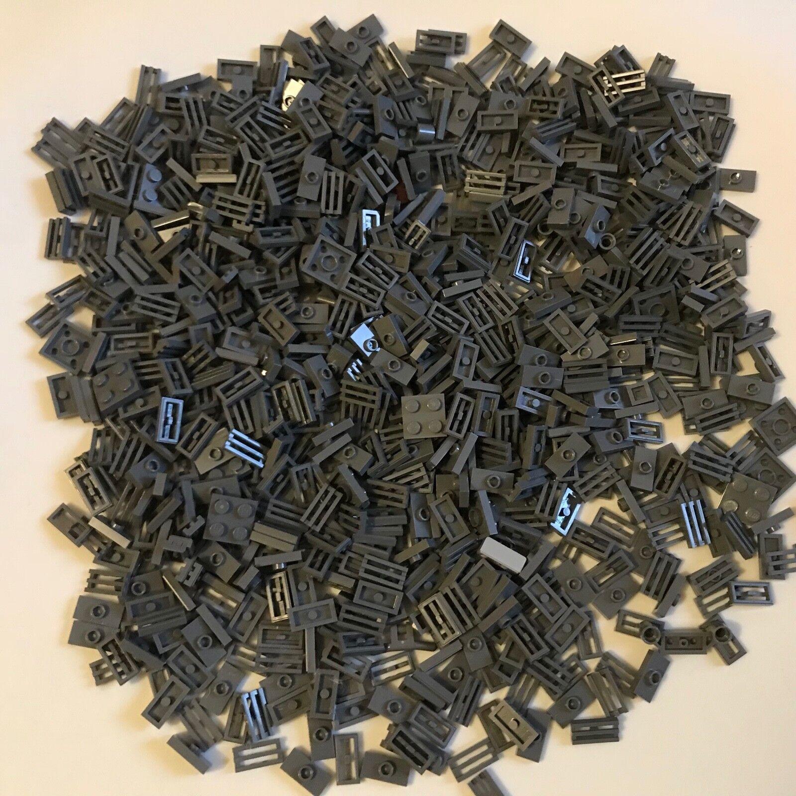 850 LEGO DARK BLUISH grau - lot - Plate 1X2 W. 1 Knob grill tile 2x2 Star Wars
