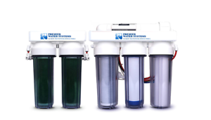 6 Stage Aquarium Reef Reverse Osmosis RODI Water Filtration System Manual Flush