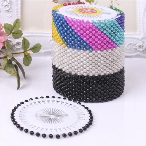 Lots Round Pearl Snag Goupille de sécurité Craft Couture Hijab Écharpe Tailleur Pins Roue