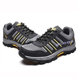 c3033adb961 New Summer Men's Steel Toe Safety Shoes Breathable Work Boots ...