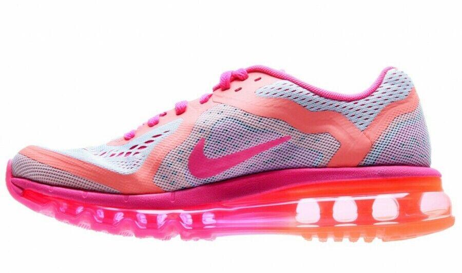 Nike Air Max 2014 GS Running Shoes Ungdom US 7 / Kvinnors US 8.5 Platinum Pink NYHET