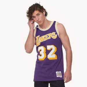 c9b97c5c7 Magic Johnson Los Angeles Lakers LA Mitchell   Ness NBA Authentic ...