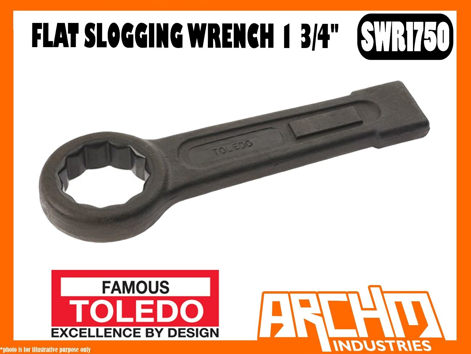 TOLEDO SWR1750 - FLAT SLOGGING WRENCH - 1 3 4  - IMPERIAL