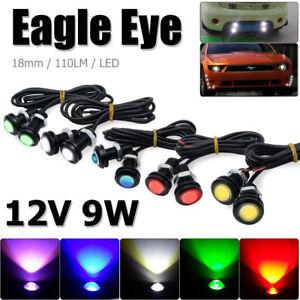 2 Pcs 9W 500 Lumen Waterproof Eagle Eye LED Daytime Running Brake Lamp Light Car