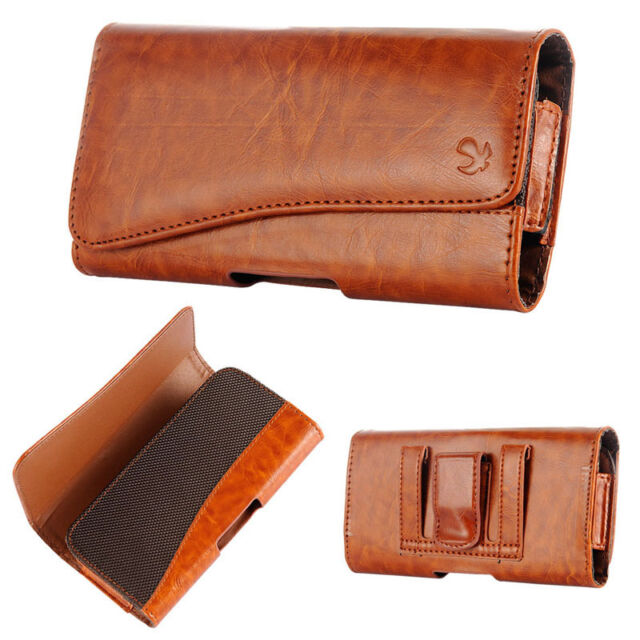 Brown Leather Belt Clip Horizontal Pouch Case Cover For Apple iPhone 7 4.7inch