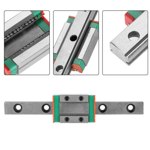 9mm LML9B Carril de guía en miniatura diapositiva lineal deslizante bloque CNC kits de herramientas 40 ~ 260mm