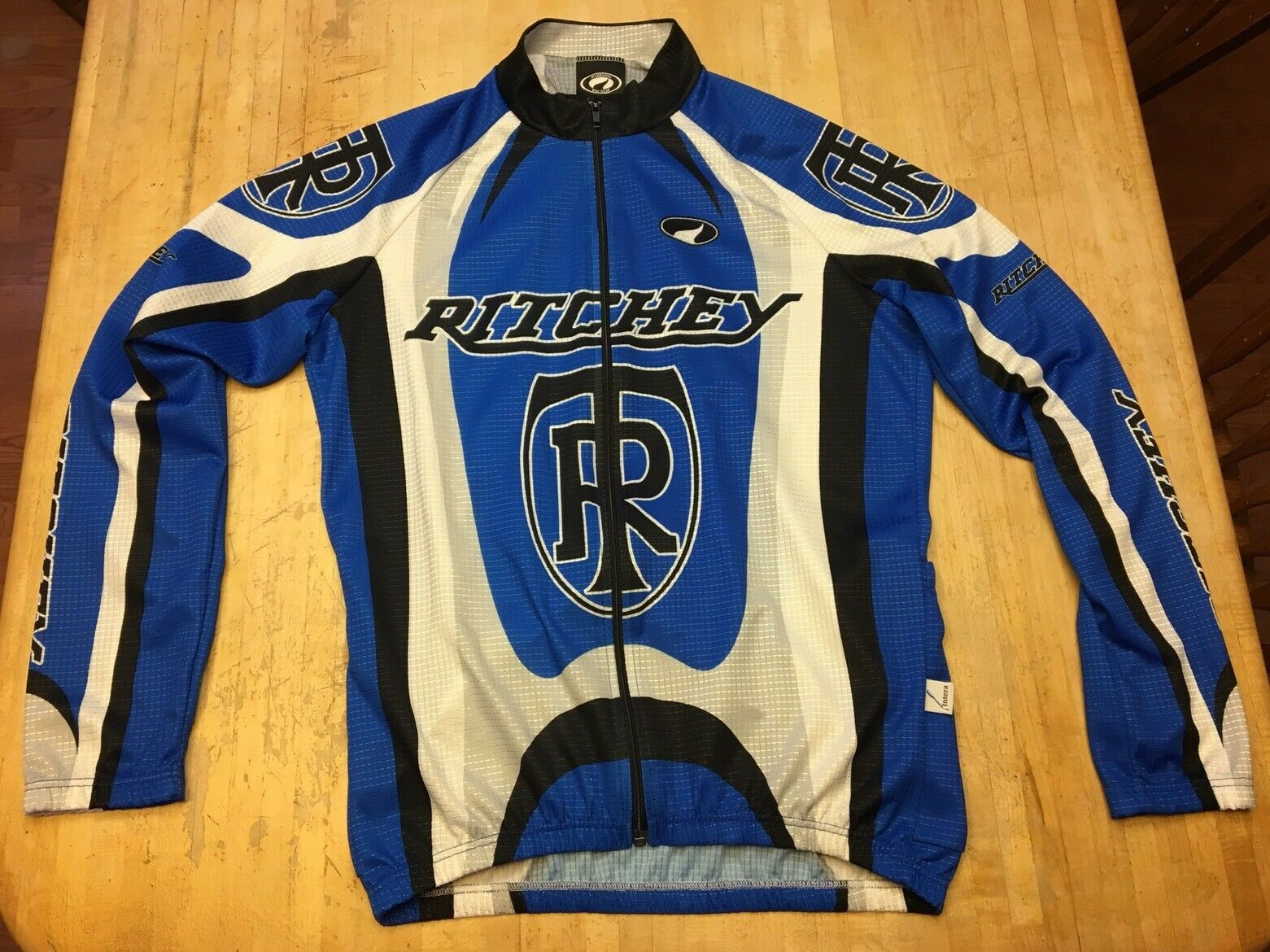 RARE Mens Parentini Bike Wear Ritchey Long Sleeve Full Zip Cycling Jacket Large
