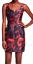 Trina-Turk-Floral-Dress-Sleeveless-Split-Neck-Sz-6-Fitted-sheath-Red-Black thumbnail 12