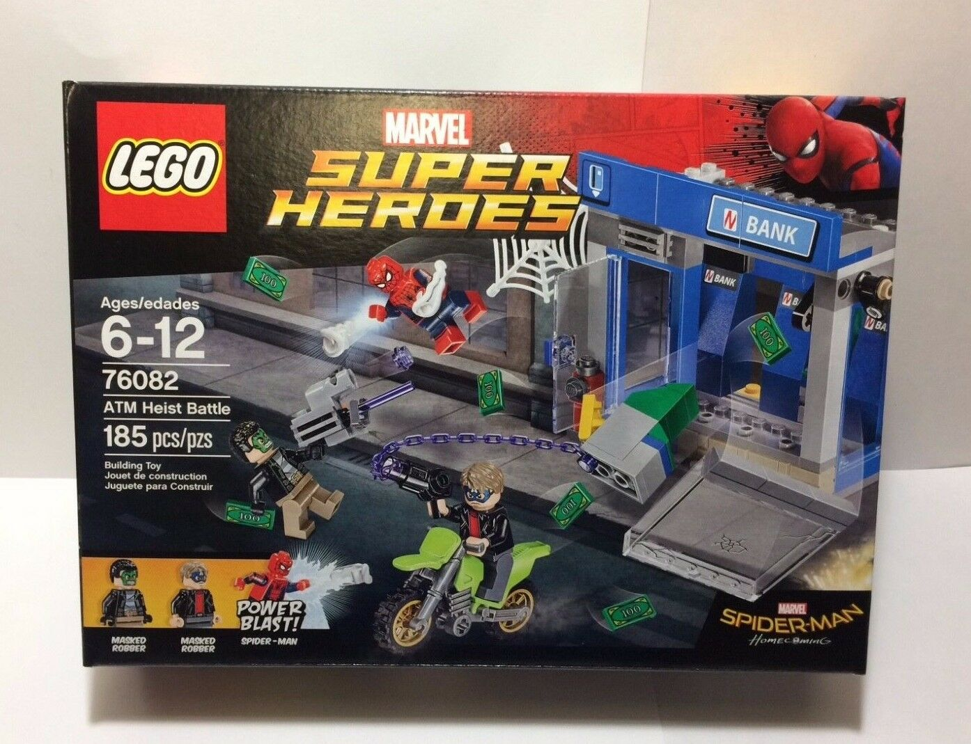 Brand New New New and Sealed LEGO 76082 Marvel Super Heroes ATM Heist Battle  SPIDER MAN 5045c9