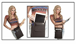 10-034-Tablet-iPad-Quality-Holster-Pouch-Apron-With-Web-Belt-USA