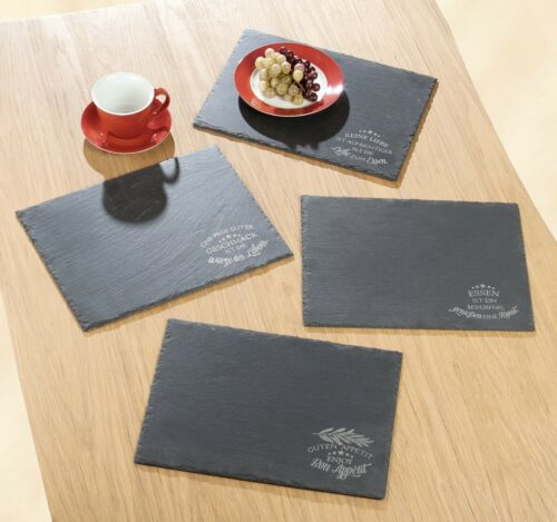 Slate Table Mat With Motto Decoration Table Underlay covered table