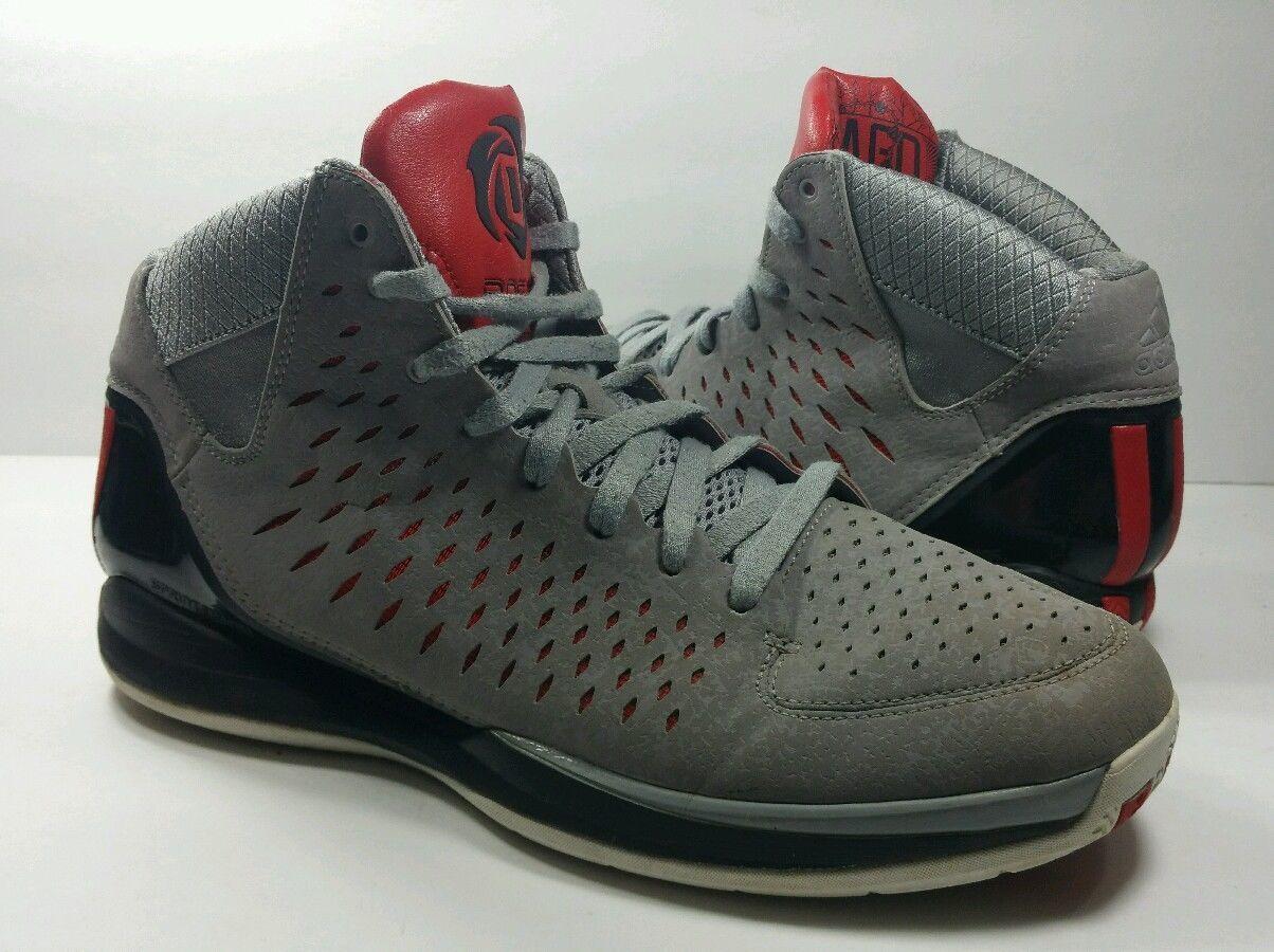 Adidas Rose 3 Basketball Chicago Bulls Aluminum/Black/Gray/Red G48810 - Size 11