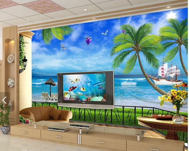 3D Segeln, Möwe 266 Fototapeten Wandbild Fototapete BildTapete Familie