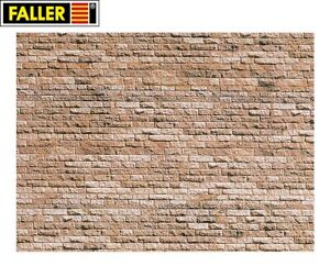 Faller-N-222563-Wall-Panel-034-Basalt-034-1m-New